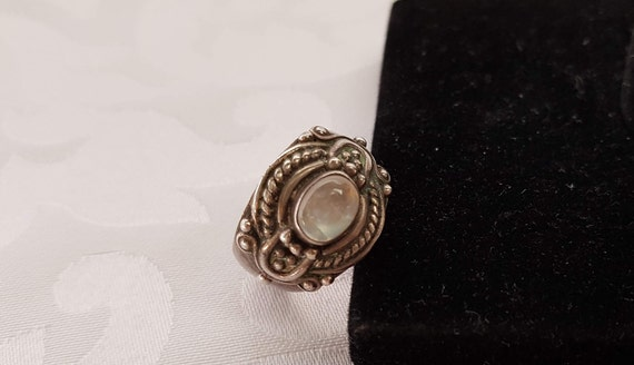 Sterling Moonstone Ring, Sterling Silver Moonstone