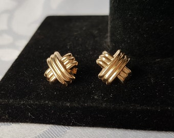 12K Plated Sterling Silver Earrings, Gold Plated Sterling Silver Earrings, Sterling Silver Earrings, Gold Earrings, Earrings
