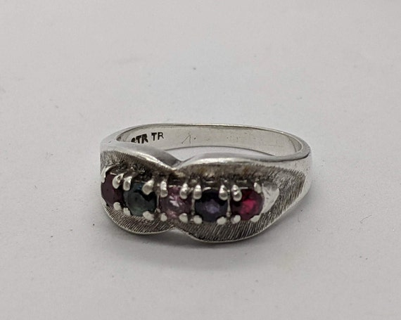 Vintage Chunky Sterling Silver Ring Size 8.25