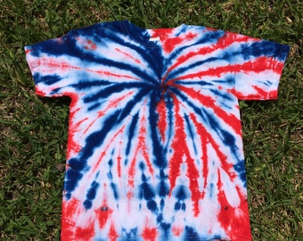 9ad7b99d Youth Small 6/8 Red White and Blue Tie Dye shirt, Patriotic Tie Dye, 4th of  July Shirt, Fireworks Shirt, Spider Tie Dye, Spiderman Tie Dye,