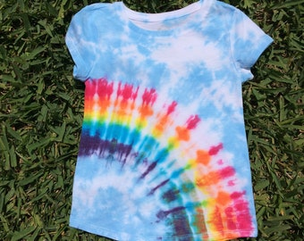 07e5f096 Girls XS 4/5 Rainbow Blue Sky Tie Dye T-Shirt, Tie Dye Shirt, Rainbow Shirt,  Rainbow Tie Dye, Rainbow Shirt, Rainbow TShirt