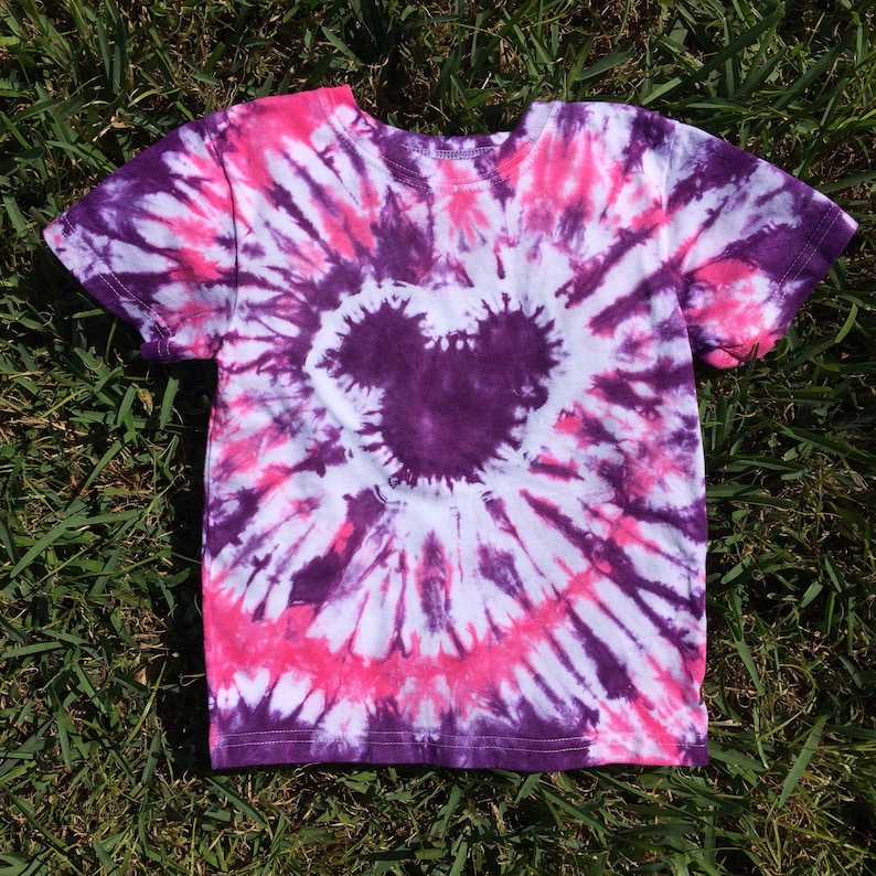 3c8b0499f35c8 4T Mouse Head Tie Dye Shirt in Purple and Pink, pink tie dye, handmade tie  dye, tshirt, tie dye shirt, toddler tie dye, girls tie dye