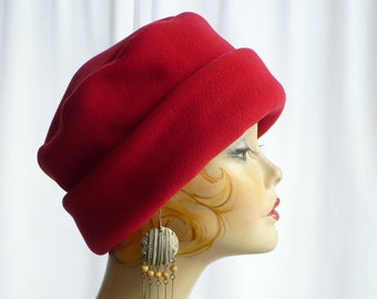 Berry Red Pillbox Lid Bucket Hat 86a6d792c22