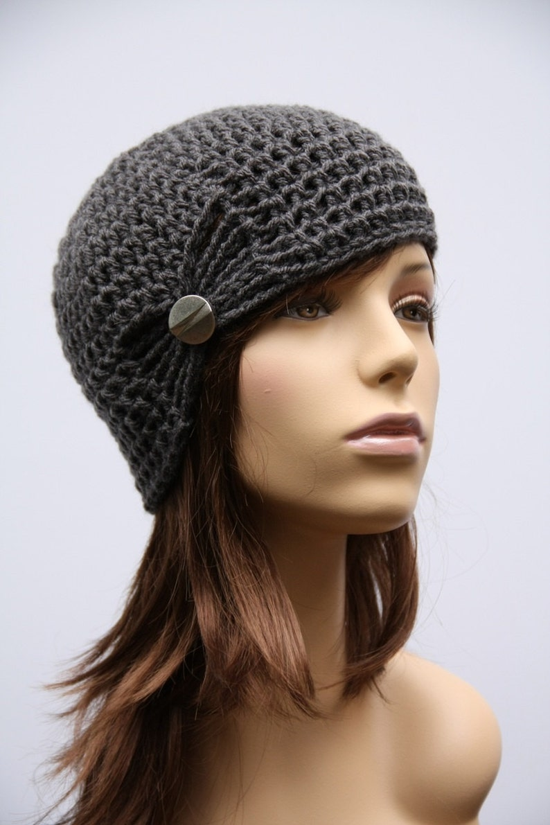 Special Order Black Sparkle Gathered Cloche image 0