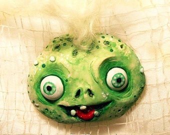 Ghoul Ornament - Halloween Decoration - Zombie Ornament