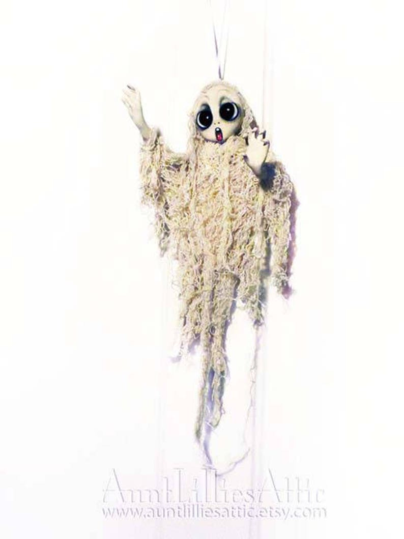Ghost Halloween Decorations Ghost Ornament Halloween Decor Halloween Ornaments Haunted Doll Halloween Art Made To Order