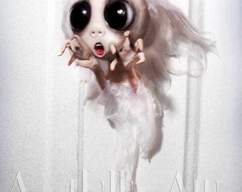 Halloween Ghost Ornament - MADE TO ORDER - Banshee Ornament