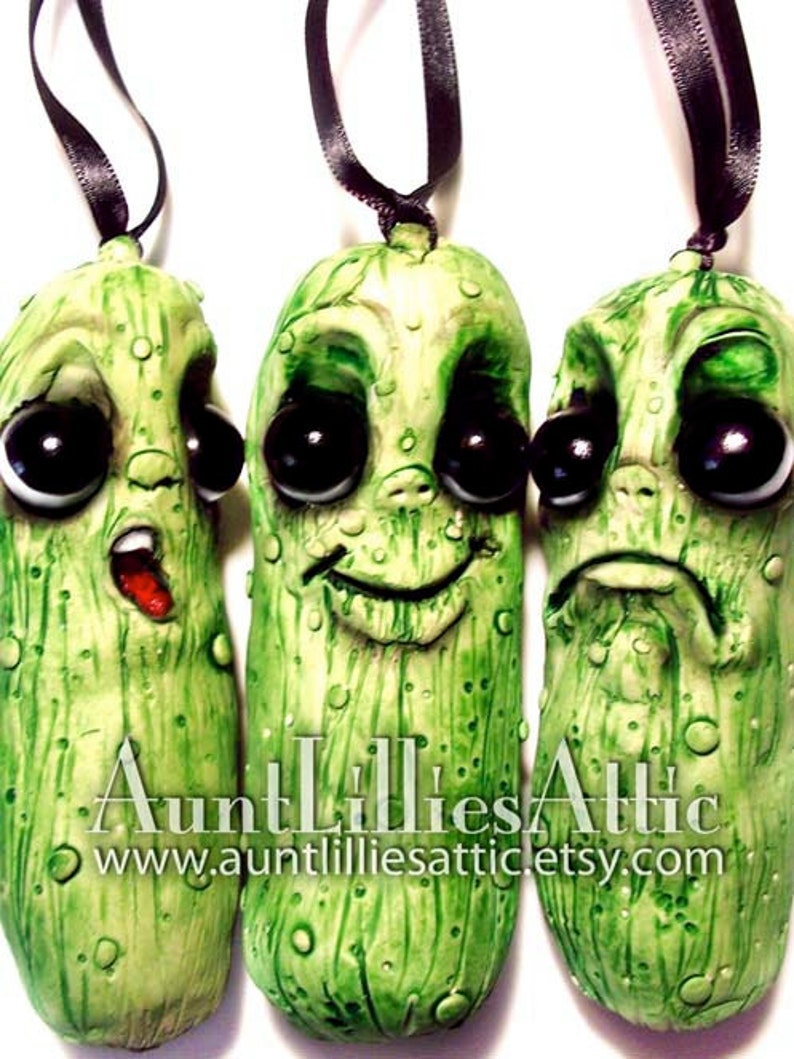 Holiday Tradition Made-to-Order Christmas Pickle Ornaments Set Holiday Ornament