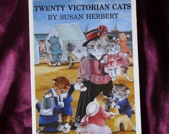 Susan Herbert / Twenty Victorian Cats / Postcard Book