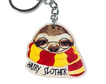 Hairy Slother keychain | Sloth keychain | Book Lover | Sloth gift | Adorable sloth | Inspired By Books | Cute Baby