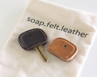 414360a3ad8f57 Leather Key Cover, Key Topper, Key Cap all Handmade Single or Pair (Key not  included)