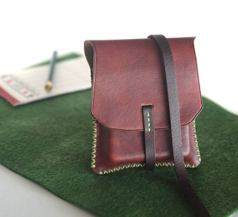 f545942b94 Playing cards leather bag, full grain calf leather pouch