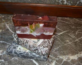 Soap ~Large  Bar~ Artisan Soap~ Handmade Soap~ Vegan Soap~ Chocolate & Berries  Soap