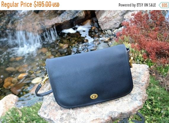 Fall Sale COACH, Coach Bag, Vintage Coach, Navy Bl