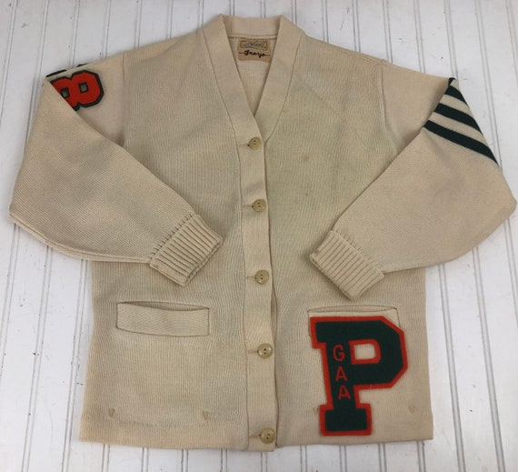 Vintage Letterman Sweater - H.L. Whiting 100% Wool