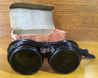 Vintage Willson Industrial Safety Goggles - Willson Personal Protective Devices for Industrial Safety