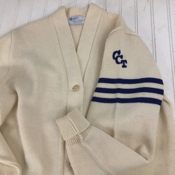 Vintage Letterman Sweater - Clarkson College of Te