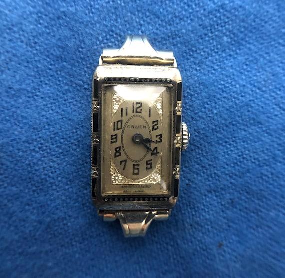 1920s Gruen 14K Ladies Watch - Art Deco Watch