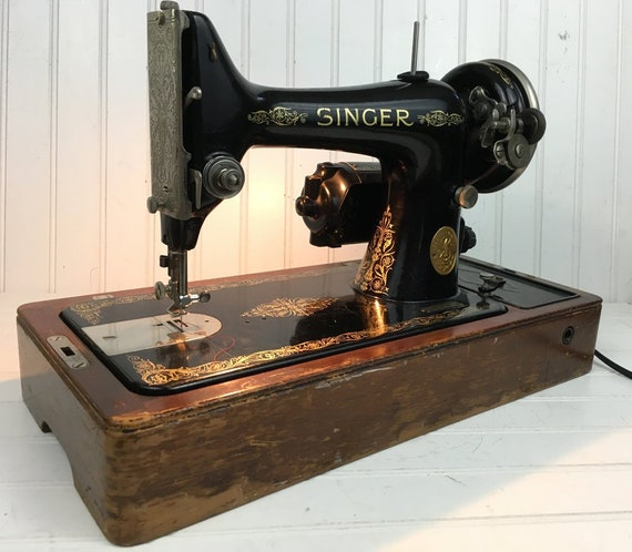 Vintage Singer Sewing Machine Model 40 AD40 40 Etsy Cool 1935 Singer Sewing Machine