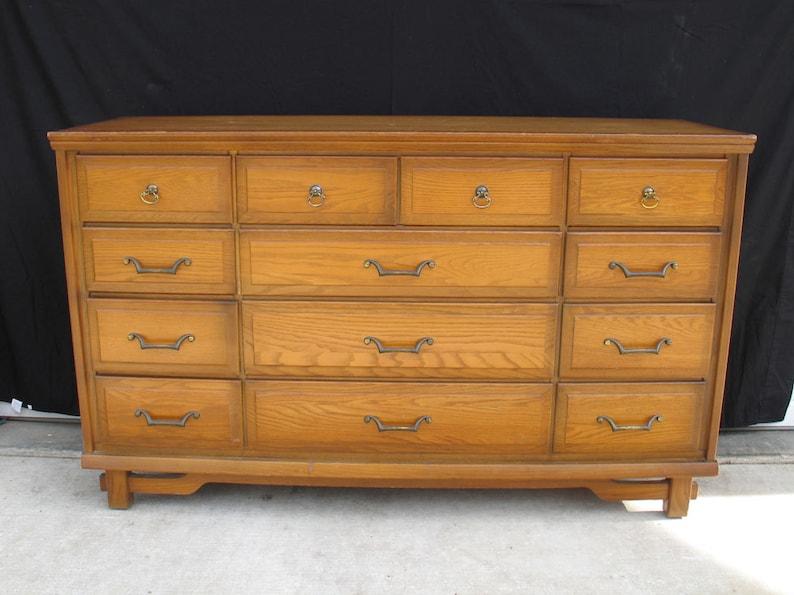 vintage sumter cabinet co 13 drawer dresser korn industries etsy rh etsy com  sumter cabinet company bedroom furniture for sale