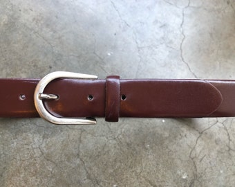 599a7cbac Vintage Burgundy Chocolate Cherry Canadion leather dress belt unisex adults mens  womens size waist 32 33 34 35 36 1990s 90s M L Canada