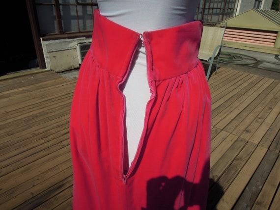 Vintage Velvet Hot Pink Vivid 70s Boho Long Cotto… - image 10