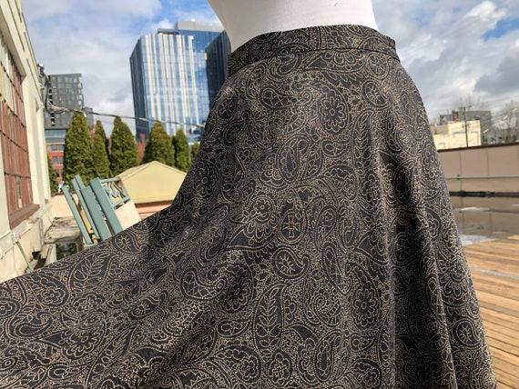 I.Magnin Silk Bias Cut Flared Flirty Floral Paisle