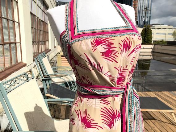 Silk Betsey Johnson 1940s 40s Retro Magenta Pink B