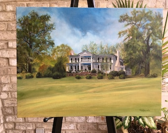 Custom Oil Painting - From Photo - Painting, Childhood Home, House