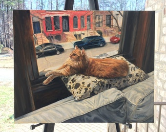 Painting Custom Pet Portrait - From Photo - Oil Painting - Cat - Dog - Animal