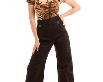Black sailor pants