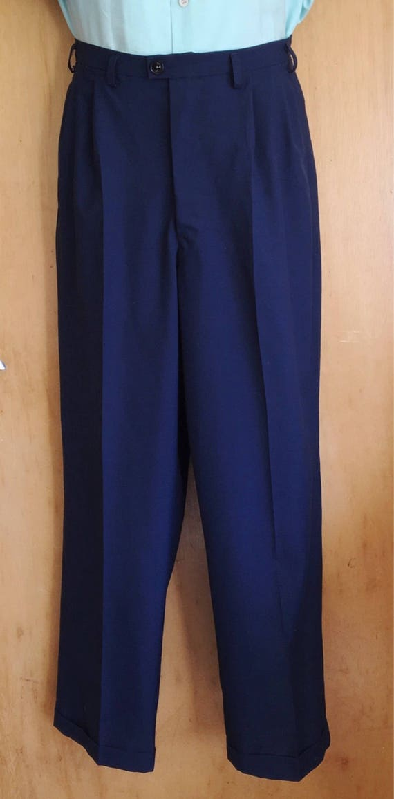 Men's Vintage Pants, Trousers, Jeans, Overalls Vintage 1950s reproduction mens Hollywood pleat front pants waist 32 to 40 $91.22 AT vintagedancer.com