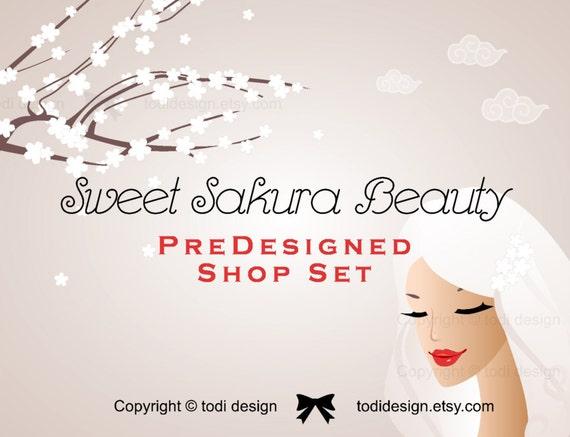 Sweet Sakura Beauty Cosmetic Boutiques Premade Etsy Shop Etsy
