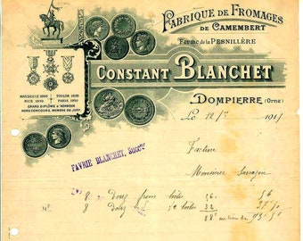 9 Different Antique French Receipts for Junk Journals, Mixed Media & Collage - digital download