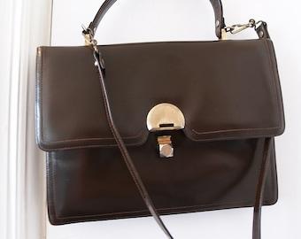 9da8811fee Vintage Mastercraft Brown Leather shoulder bag Made in Canada