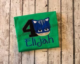 PJ Mask  Cat Boy Birthday Shirt