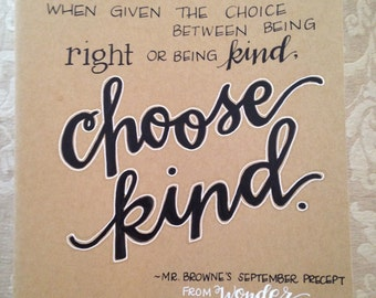 Customized, Handwritten, Extra Large Moleskine Cahier Notebook, Choose Kind, Wonder