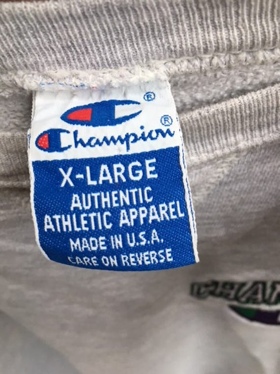Vintage Champion Crew Neck Sweatshirt XL - image 3