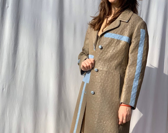 Painted Beige 60s Style Spring Coat