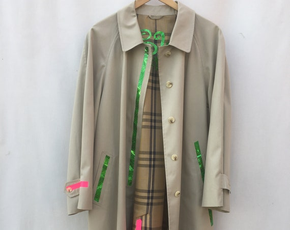 LOVE Printed Trench Coat LOLA DARLING Reversible Unisex