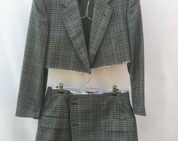 WORK in PROGRESS // Buy NOW at Special Price!! Pied de Poule Houndstooth Bolero Blazer Belt Mini Skirt Deconstructed Lola Darling