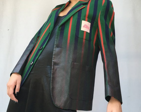 Black Laminate on Striped LOLA DARLING Blazer