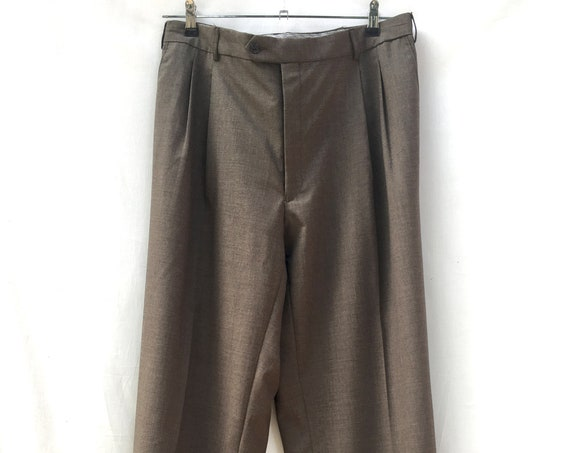Gray Green Deconstructed Tailored Trousers for Man and Women by LOLA DARLING Wool Couture Men's Pants Modified Sustainable Baggy Pants
