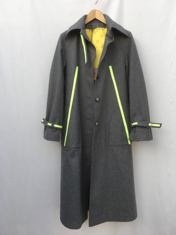 Gray Loden Glitter Yellow Stripes LOLA DARLING Gender Fluid Sustainable Duster Jacket