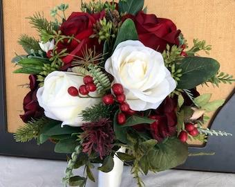 Winter wedding bouquet etsy popular items for winter wedding bouquet junglespirit Choice Image