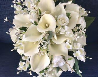 Silk wedding flowers etsy mightylinksfo