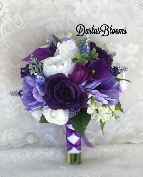 Lila Hochzeit Blumenstrauss Brautstrauss Lavendel Strauss Lila Hochzeitsblumen Hochzeitszubehor Brautjungfer Bouquet Seide Hochzeitsblumen