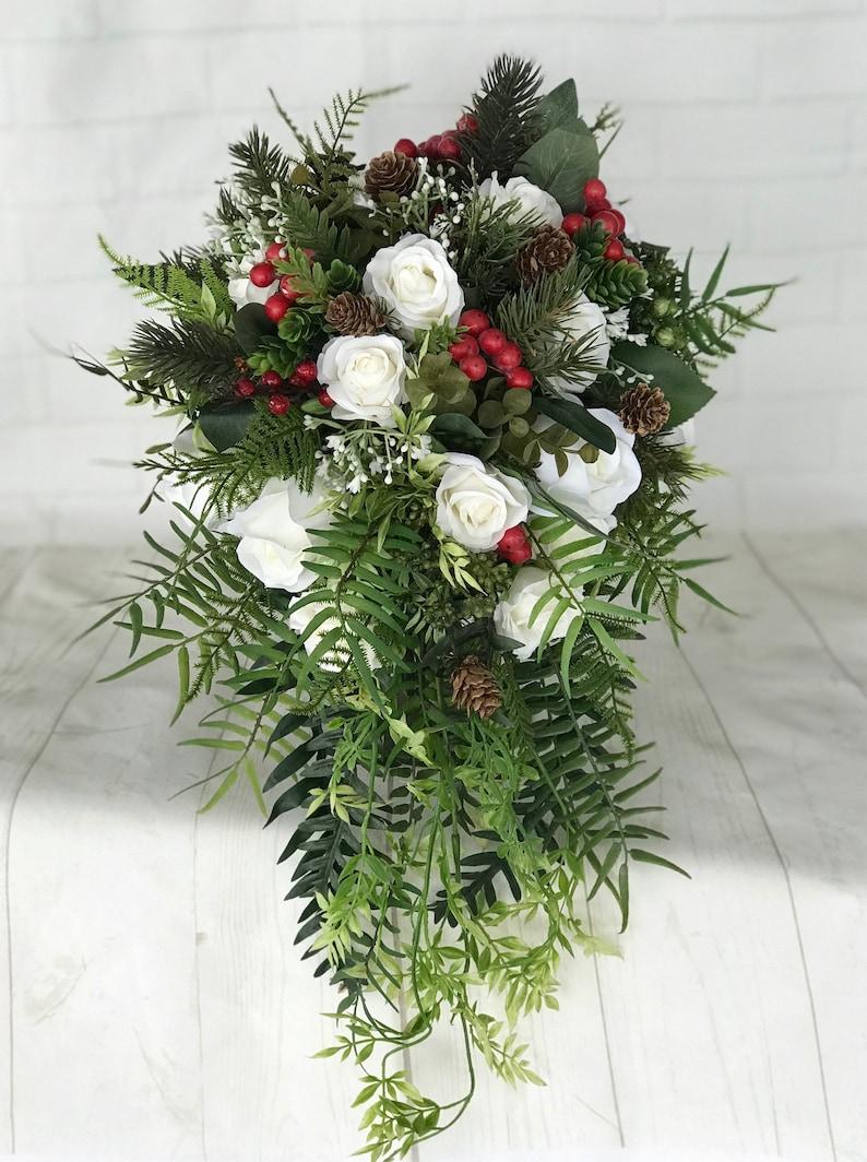 Bouquet Natalizio Matrimonio : Bouquet da sposa bouquet da sposa bouquet di inverno mazzo etsy