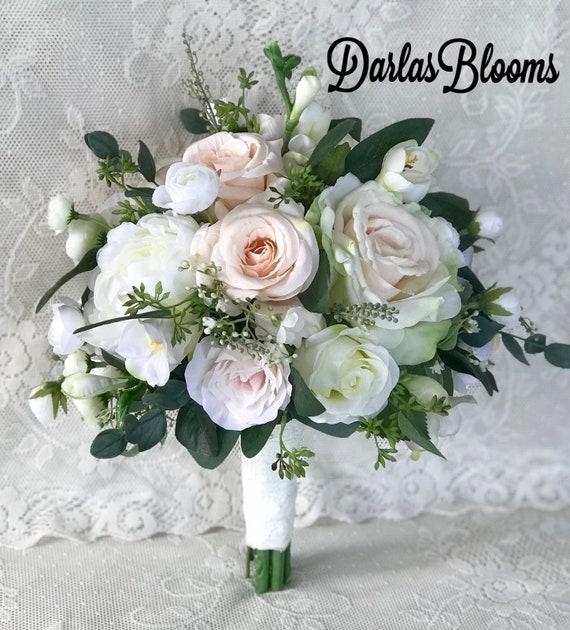 Blush Wedding Bouquet Bridal Bouquetblush Wedding Etsy
