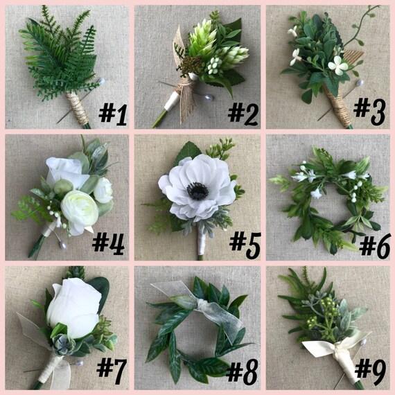 Anstecker Knopfloch Brautigam Blume Trauzeugen Blume Etsy